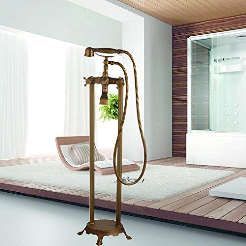 Luxurious shower Moderne neue Ankunft Messing antik Dusche Wasserhahn Set Duschkopf Handbrause Feldspritze an der Wand montierte Mischbatterie