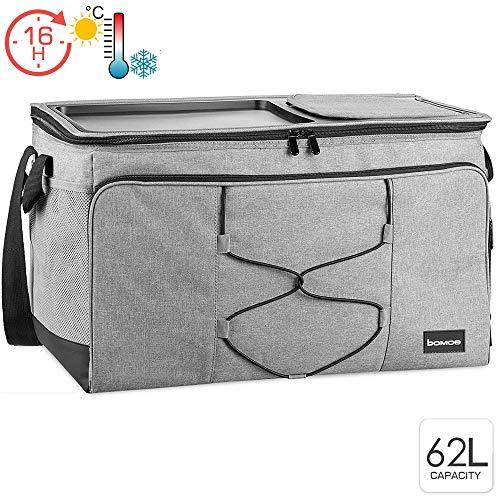 bomoe 62 Liter XXL Kühltasche groß faltbar IceBreezer KT53 - Outdoor Kühlbox Isoliertasche für unterwegs - 53x37x32 cm - Auch als Picknicktasche Thermotasche nutzbar – Perfekter Lebensmitteltransport