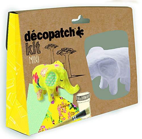 décopatch KIT029C Tier-Set aus Pappmaché, braun, 3.5x19x13.5cm