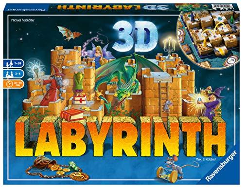 Ravensburger 26113 - 3D Labyrinth - Familienklassiker, Spiel für Erwachsene und Kinder ab 7 Jahren - Gesellschaftspiel geeignet für 2-4 Spieler - Schätze suchen