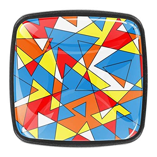 Perillas del gabinete del cajón del tocador Perillas de vidrio de cristal Tiradores para cocina Armario Armario Armario de baño 4 piezas El color Bauhaus