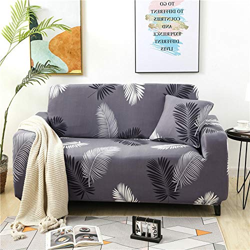 Fsogasilttlv Couch Covers Love Seat Cover Non-Slip 2 Seater and 3 Seater,Sofa Cover For Living Room, Elastic Sofa Elastica Slipcover Couch Sofa Corner F 145-185cm and 190-230cm(2pcs)