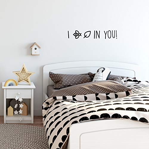 """Vinyl Wall Art Decal - I Bee Leaf In You - 5"""" x 30"""" - Cute Motivationall Kids Tod"""