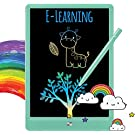 TEKFUN LCD Writing Tablet Doodle Pad for Kids, 10inch Rainbow Drawing Board Doodle Board Educational Learning Toys for 3 4 5 6 Year Boys Girls Birthday Gift (Green)