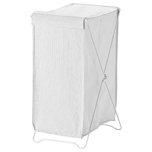 IKEA/イケア TORKIS:ランドリーバスケット90 L ホワイト/グレー (303.199.78)