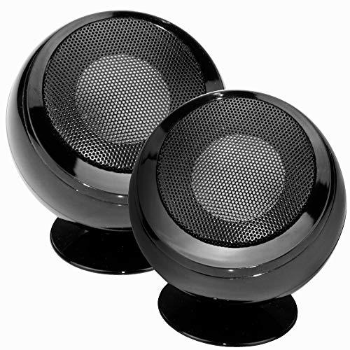 True Wireless Stereo Speaker TWS Mini Bluetooth Lautsprecher Drahtlose Musik Boxen 2x3W Desktop Lautsprecher schwarz, HiFi Stereo Sound, Lithium-Akku, tragbar, kabellos, portabel, für Zuhause, Reisen