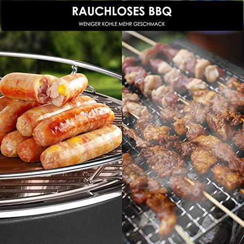 Grillbürste Extra Langer Edelstahl Borsten Wärmedämmung Griff BBQ Grill Bürste