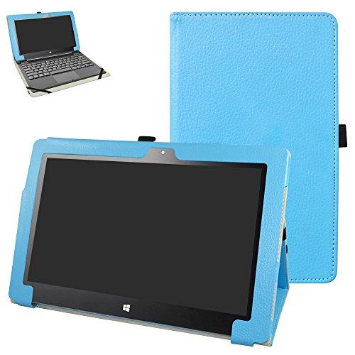 "Insignia Flex 11.6 NS-P11W6100 Case,Mama Mouth PU Leather Folio 2-Folding Stand Cover for 11.6"" Insignia Flex 11.6 NS-P11W6100 Windows 10 Tablet,Light Blue"