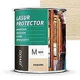 LASUR PROTECTOR MATE Protege, decora y embellece todo tipo de madera (750 ML, INCOLORO)