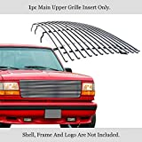 APS Stainless Steel 304 Billet Grille Fits 1992-1996 Ford Bronco/F-150/F-250/F-350 Polished Chrome #N19-S70058F