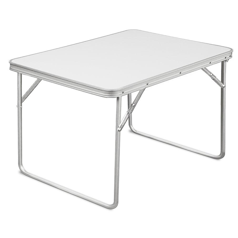 Deuba Mesa de camping plegable blanco de Aluminio mesa de playa ...