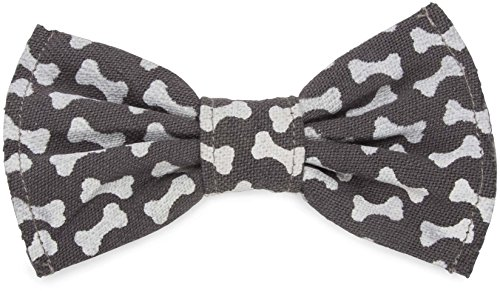 Pavilion Gift Company 45620 Pavilion's Pets - Large Gray Dog Bone Slip On Bow Tie