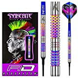 RED DRAGON Peter Wright Snakebite Rainbow Mamba Soft-Tip - 18g - 90% Freccette Soft Tungst...