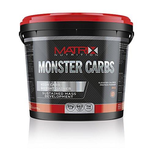 Matrix Nutrition Monster Carbs Weight Gainer 8KG - Mass Gain Protein Powder Shake (8KG, French Vanilla)