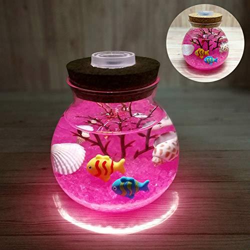 XHSHLID Valentijnsdagcadeau voor creatieve bruiloft mooi aquarium nachtlampje duurzame decoratie huis simulatie lamp Medusa