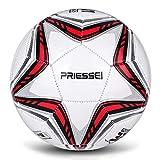 Priessei Fußball-Trainingsball, Größe 5, offizieller Indoor- und Outdoor-Fußball,...