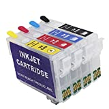 Inkway Cartucho de tinta recargable de repuesto para impresora 603 o 603XL, funciona con Expression Home XP-3100 XP-2105 XP-4100 XP-2100 XP-3105 XP-4105 WF-2810 WF-2830 WF-2835 WF-2850