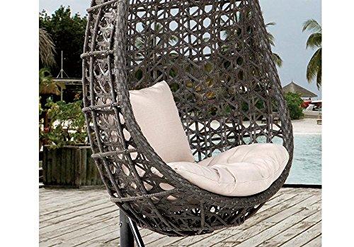 DESTINY Hängesessel Coco, Kunststoff, inkl. Sitz- und Rückenkissen 1 Stuhl, dunkelgrau - 2