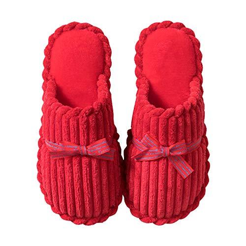 Flip Flop-GQ Zapatillas de Boda casa Nueva Boda Festiva Pareja roja Zapatillas...