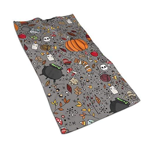 Edmun Calabaza de Halloween Caldera Toallas de Cocina Paño de Cocina Lavable a máquina Paños de Cocina de algodón Toallas para Platos y Toallas de té para secar Limpieza Cocinar Hornear