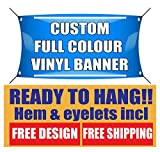 PVC Banners Sign FREE DESIGN-outdoor printed advertising display Ready to Hang
