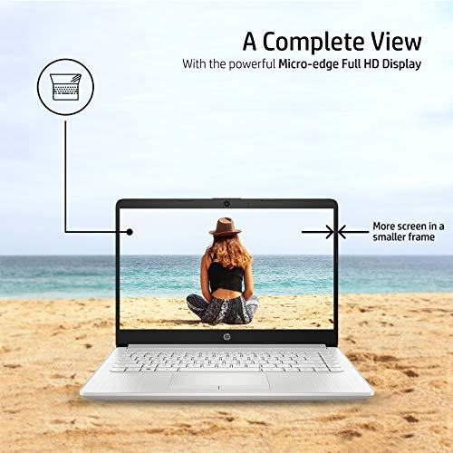 HP 14 10th Gen Intel Core i5 Processor 14-inch Laptop (i5-1035G1/8GB/1TB HDD + 256GB SSD/Win 10 Home/MS Office/Natural Silver ),14s cs3009TU