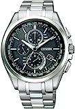 シチズン 腕時計 アテッサ Eco-Drive エコ ドライブ電波時計 ダイレクトフライト 針表示式 薄型 マスコミモデル AT8040-57E メンズ