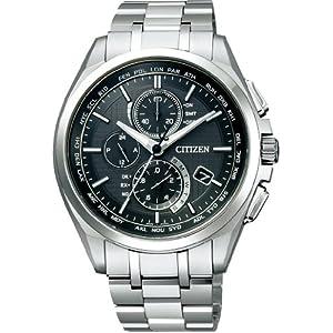 [シチズン] 腕時計 アテッサ Eco-Drive エコ・ドライブ電波時計 ダイレクトフライト 針表示式 薄型 マスコミモデル AT8040-57E メンズ