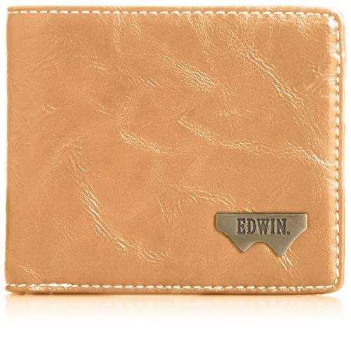 [エドウィン] 二つ折財布 グレイン合皮 Wメタル 紙幣収納 小銭収納 カードポケット 12289938 28.キャメル One Size