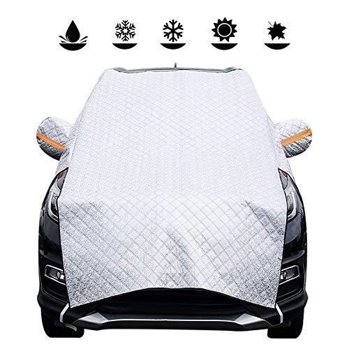 GYYlucky Protezione per Parabrezza, Copertura per Parabrezza Auto Magnetic Ice Protection Anti UV Antighiaccio Telo Antipioggia Copri Parabrezza Adatto per La Maggior Parte dei Veicoli