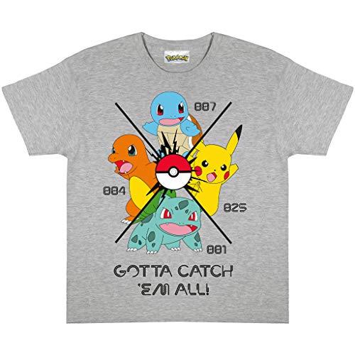 Pokemon Gotta Catch Em All Boys T-Shirt | Producto oficial | Edades 3-13 años, regalos de Pokémon para niños, ropa de niños, Pikachu, idea de regalo de cumpleaños para niños