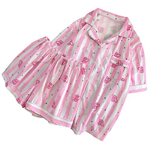 Silver Basic Unisex Kpop BTS Schlafanzug Sommer Pyjama Set für Musik Fans Army Pink M