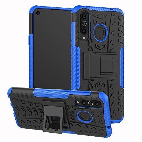 LICHONGGUI Teléfono Protector Cubierta a Prueba de Golpes TPU + PC for Galaxy A8s, con Soporte (Negro) (Color : Blue)