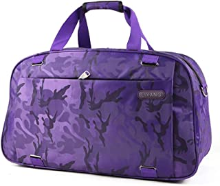 Foldable Duffle Bag, Large Travel Bags, Waterproof Luggage Bag, Portable Overnights Bag, Gym Shoulder Bag, Utility (Color : Purple)