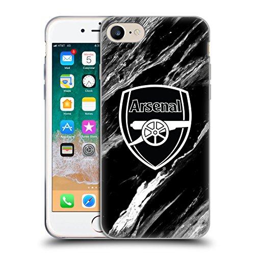 Head Case Designs sous Licence Officielle Arsenal FC Marbre Crête Modèles Coque en Gel Doux Compatible avec Apple iPhone 7 / iPhone 8 / iPhone Se 2020