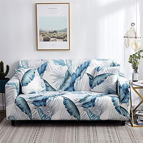 Surwin Funda de Sofá Elástica para Sofá de 1 2 3 4 plazas, Impresión Universal Cubierta de Sofá Cubre Sofá Funda Furniture Protector Antideslizante