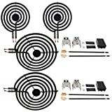 SZHY-LINK MP22YA For Hardwick & Jenn Air & Kenmore & Maytag & Norge & Whirlpool Electric Range Stove 4 Pack 330031 Surface Element Electric Range Burner Element Unit Set - 2 MP15YA 6' and 2 MP21YA 8'