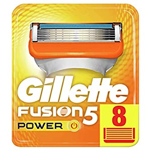Gillette Fusion5 Power Razor Blades, 8 Refills, Mailbox Sized Pack by Procter & Gamble