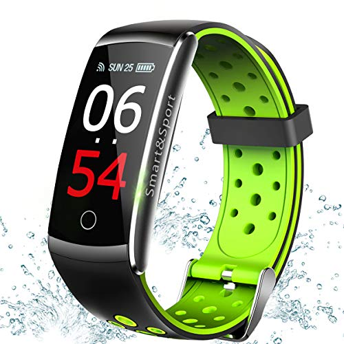 Fitness Tracker with Heart Rate Blood Pressure Monitor, Waterproof Activity Tracker Smart Watch Pedometer Message Reminder Calorie Sport Smart Band for Man Woman Xmas Valentines Day Best Gifts