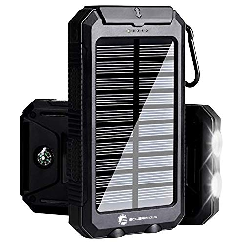 Solar Charger 30,000mAh, Solarprous Portable Solar Battery Charger External Battery Pack Phone Charger Power Bank for Cellphones Tablet with...