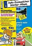 Kinder-Reisespiel KFZ-Kennzeichen Sticker-Sammelalbum fürs Handgepäck, Mitmachbuch für die...