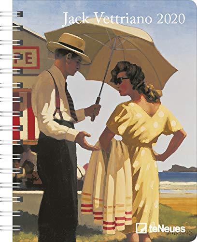 Jack Vettriano 2020 Diary - Buchkalender - 16,5x21,6cm -  Taschenkalender - Wochenplaner - Diary - Kunstkalender