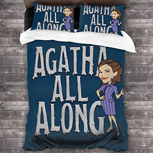 Wandavision Agatha Soft Microfiber Lightweight Bedspread, Suitable for All Seasons