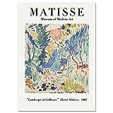 Vintage Henri Matisse cartel línea de impresión cara cuerpo abstracto arte de la pared cuadro de la pared familia sin marco pintura de la lona A6 30x40cm