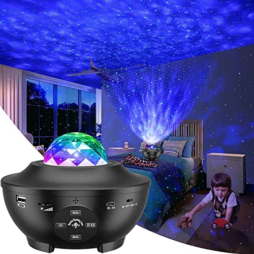 Galaxy Projector, Star Projector 3 in 1 Night Light Projector w/LED...
