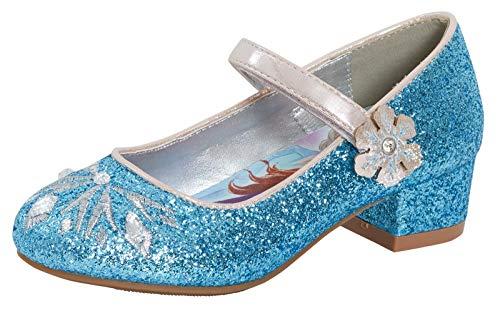 Disney La Reine des Neiges Chaussures à paillettes pour fille - Bleu - Frozen 2., 33 EU