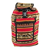 BOHEMIAN VINTAGE BACKPACK TIWANAKU FOR WOMEN AND MEN BY MACHU PICCHU STORE (Red)