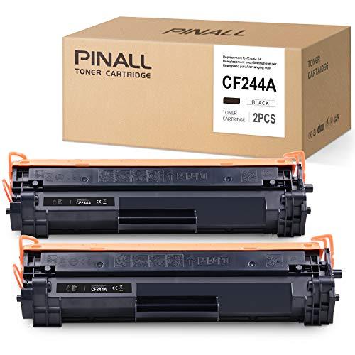 PINALL (MIT CHIP) Toner Kompatibel mit HP CF244A 44A für HP Laserjet Pro M15w M15a M16w M16a M29w M29a HP Laserjet Pro MFP M28w MFP M28a Drucker (2 Schwarz)