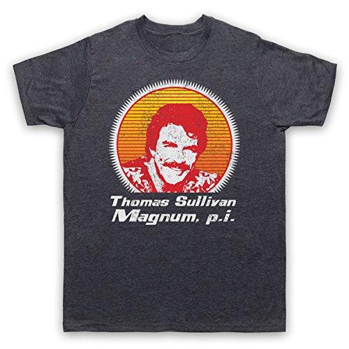 Death To Videodrome Magnum Face Tribute Selleck Crime Action TV - Camiseta...