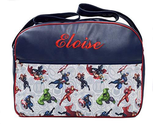 Maxi bolso para carrito de bebé BORDADA CON EL NOMBRE del bebé. Varios modelos y colores disponibles. (Marvel)